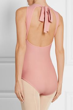 Pastel-pink stretch-jersey Pulls on 80% nylon, 20% spandex; lining: 54% cotton, 40% polyester, 6% spandex Hand wash Imported