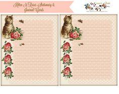 glenda's World : Kitten-N-Roses Stationary & Journal Cards (free)