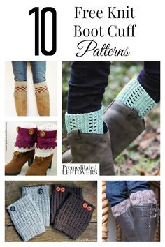 Here are 10 Free Knit Boot Cuff Patterns for Women, including cable knit boot cuffs, easy knit boot cuff patterns, and many more free knit boot cuff patterns. Add these DIY boot cuffs with boots and jeans to easily update your fall wardrobe. Knitted Boot Cuffs, Crochet Boots, Knit Boots, Knit Or Crochet, Ugg Boots, Loom Knitting, Knitting Socks, Knitting Patterns Free, Knit Patterns