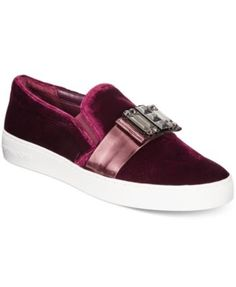 MICHAEL Michael Kors Michelle Slip-On Embellished Sneakers $160.00 MICHAEL Michael Kors delivers a sweet casual silhouette with the prettily-embellished Michelle slip-on sneakers.