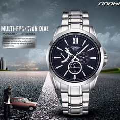 1125G All stainless steel or leather band with chonographs men's watch - YH(Sinobi) International