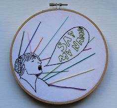"""Embroidery inspired by the song """"Spectrum"""" by Florence and the machine"""