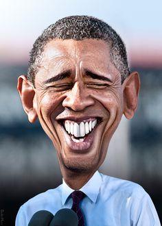 Barack Obama - Caricature   Flickr - Photo Sharing!