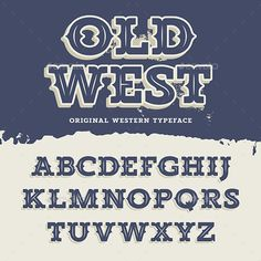 Old West Font by AlexeyPushkin Vintage retro alphabet in western style (Not a font). Slab Serif type letters on a grunge background Old Fonts, Vintage Fonts, Vintage Typography, Typography Letters, Graphics Vintage, Modern Typography, Vector Graphics, Lettering Styles, Lettering Design