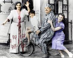 """من كواليس فيلم """"بابا أمين"""" تمثيل فاتن حمامة ، حسين رياض ، ماري منيب   أول افلام من إخراج يوسف شاهين 20 نوفمبر 1950"""