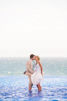 Cabo San Lucas -- Destination Weddings on SMP: http://www.StyleMePretty.com/destination-weddings/2014/01/31/mexico-wedding-at-dreams-los-cabos-golf-suite-spa-resort/ Mirelle Carmichael Photography