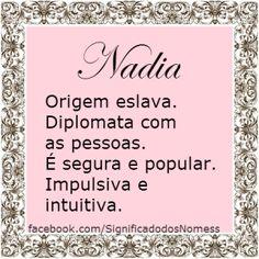 Significado do nome Nadia | Significado dos Nomes