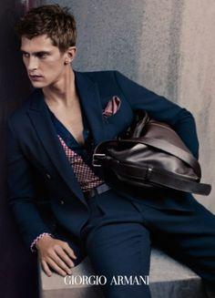 Mathias Lauridsen for Giorgio Armani Spring-Summer 2015 (Campaign)