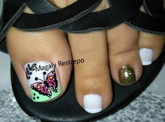 Mariposas🦋🦋🦋 Toe Designs, Kai, Sweet, Beauty, Amor, Dresses, Pedicures, Bebe, Candy