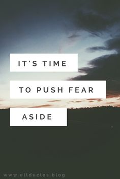 Life is filled with fear. Fear of the unknown, the failure, the time wasted. Fear is stopping your success. Don't let it be the reason you fail.