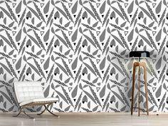 Design #Tapete Streifen Phantasie Design, Self Adhesive Wallpaper, Stripes, Wall Papers, Monochrome