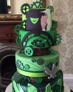 Steampunk Tendencies | Wicked themed cake by Dawn Butler...