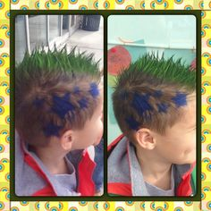 We've gathered our favorite ideas for Crazy Hair Day Preschool School Hair Color Boy Hair, Explore our list of popular images of Crazy Hair Day Preschool School Hair Color Boy Hair. Crazy Hair Day Boy, Crazy Hair Day At School, School Hair, Funky Hairstyles, Hairstyles For School, Whacky Hair Day, Wacky Tacky Day, Coloured Hair Spray, Boys Haircut Styles