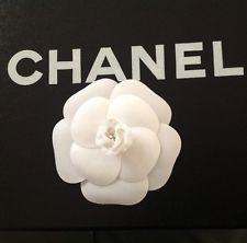 AUTHENTIC CHANEL WHITE CAMELLIA FLOWER NEW
