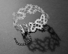 NEW Spiral Lace Necklace Modern Statement Lace by TheIdriaLace