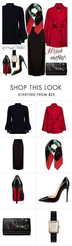 """""""#Hijab_outfits #modesty #Formal #Classic #Winter"""" by mennah-ibrahim ❤ liked on Polyvore featuring Zimmermann, Sentaler, Fendi, Christian Louboutin and Chanel"""