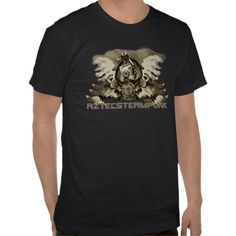 Aztec shirt 2 - Steampunk Owl Gears and Cogs, Mechanical, Engineering, Metal, Industrial, Gift, machinery, shop, buy online, for sale, clothes, fashion, clothing, tops, tees,