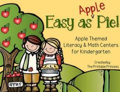 This product is now part of a BUNDLE: Monthly Centers Bundle #1Apple Themed Centers for Kindergarten: Easy as {Apple} Pie! Perfect for September and the beginning of fall, this apple themed center pack contains 10 reading and 11 math center activities (21 centers in all).