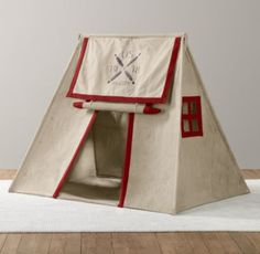 Asher room (w/ swiss chest) - Recycled Canvas Pitch Tent | Tents | Restoration Hardware Baby & Child