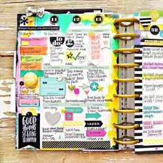 stephbuice: Hey guys! I just handed in my 2nd mambi assignment for the month and they're both weekly spreads, I am seriously hooked! Thought I'd share a peek of this one with you as well. @meandmybigideas #mambi #mambidt #planner #planneraddict #thehappyplanner #happyplanner #create365