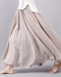 15 Colors Cotton&Linen Casual Solid Elastic A-line Skirts Stitching Dresses, Dresses For Sale, Summer Dresses, Linen Skirt, Denim Skirt, Denim Pants, Linen Dresses, Midi Skirt, Swing Skirt