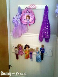 DIY Barbie doll organizer