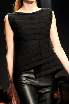 Black knitted top by Krizia Fall 2014