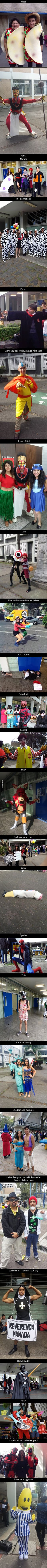 Some of the costumes at a highschool in Mexico!