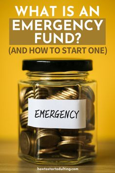 Why You Need An Emergency Fund (And How To Start One Easily) #savingmoney #emergencyfund #rainydayfund #budget #budgeting Budgeting Finances, Budgeting Tips, Finance Websites, Rainy Day Fund, Budget Envelopes, Budgeting Worksheets, How To Get Rich, Money Matters, Money Tips