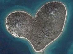 Island shaped like a heart...
