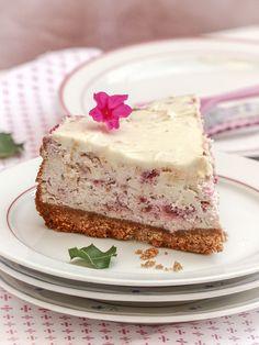 Cheesecake chocolat blanc framboise