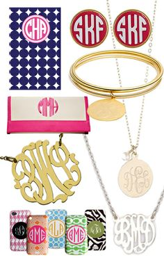 Can I please have all of these?? Look at the monogrammed iPhone case!!! Ahhh must have!!