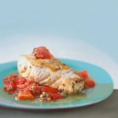 Fish recipes:  Baked Grouper with Chunky Tomato Sauce