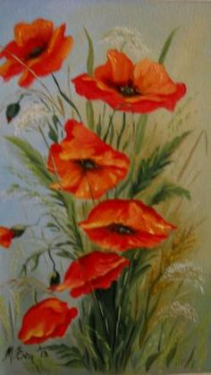 Poppies, Diy And Crafts, Canvas Art, Mac, Paintings, Flowers, Paint, Painting Art, Canvas Paintings
