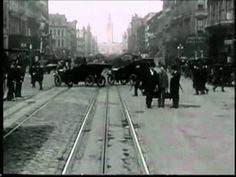 San Francisco Market Street in 1906 four days before the earthquake that killed approx. 3000.