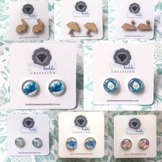 All cameo and wood cut earrings  only $10 this week only