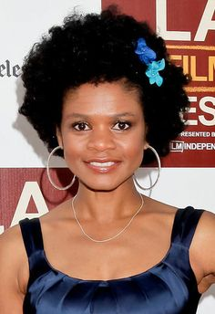 Kimberly Elise's has the cutest little afro ever, don't you think!?