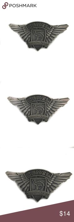 Camel 1997 Cigarettes Genuine Taste Pin Double Win Camel 1997 Cigarettes Genuine Taste Pin Double Wing Pewter Biker Motorcycle Hat Camel Accessories Jewelry