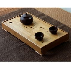 New Bamboo Gongfu Tea Tray, Chinese Serving Table, Looks classic and Japanese $38 http://www.ebay.com/itm/251645546139?ssPageName=STRK:MESELX:IT&_trksid=p3984.m1586.l2649