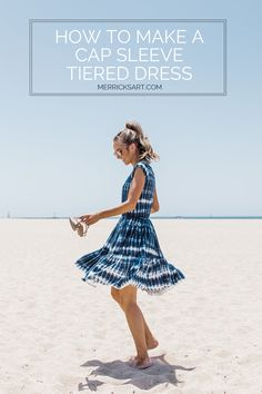 Merrick's Art // Style + Sewing for the Everyday Girl :  DIY Friday: Tie Dye Cap Sleeve Tiered Dress