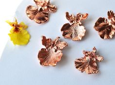 Real Orchid Flowers pendant Copper-Plated Oncidium от ChechelArt