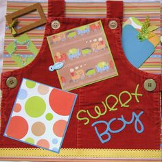 "baby boy scrapbook page ideas | Scrapbook Pages ""Sweet Boy"" Mixed Media Paper Piercing Baby Boy ..."