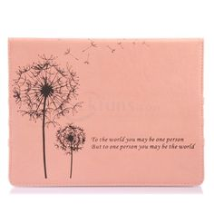 Cute Pink Folio Case for iPad 4 3 with Dandelion Pattern Cover  http://www.slickfuns.com/cute-pink-folio-case-for-ipad-4-3-with-dandelion-pattern-cover.html