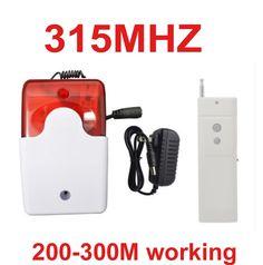 39.99$  Buy now - http://aliiwl.shopchina.info/1/go.php?t=32808617116 - 315mhz wireless speaker alarm horn 105dB 300meter working wireless speaker horn red flashing alarm 315mhz wireless horn speaker  #buyonlinewebsite