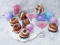 Munkit ja pink lemonade - vappu on pian täällä Limoncello, Pink Lemonade, Croissant, Cereal, Muffin, Breakfast, Sweet, Food, Desserts