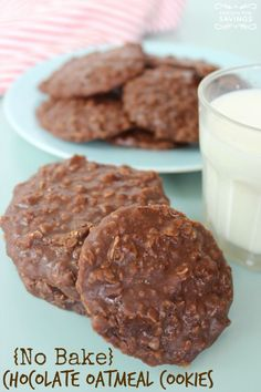 No Bake Chocolate Oatmeal Cookies Recipe | next time, a lot less sugar! Easy Cookie Recipe!