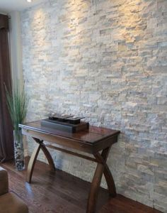 Do you want to make your house looks more natural by using the stone wall along the room? Here in this article we provide 15 stone wall interior designs for you who always want to decorate a natural home. Tile Accent Wall, Stone Accent Walls, Accent Walls In Living Room, Living Room Flooring, Living Room Interior, Living Rooms, Stone Walls, Brick Walls, Grey Walls