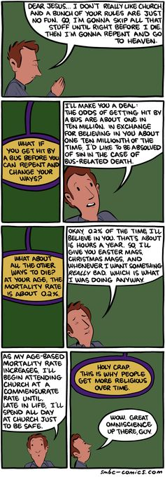 Mortality rate Vs Get religious is a linear relationship :D