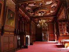 Castle Grafenegg, Austria  the wood work on the ceiling and walls is breath-taking.