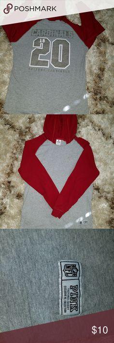 long sleeve hoodie Pink by Victoria secret NFL Arizona Cardinals long sleeve hoodie PINK Victoria's Secret Tops Tees - Long Sleeve